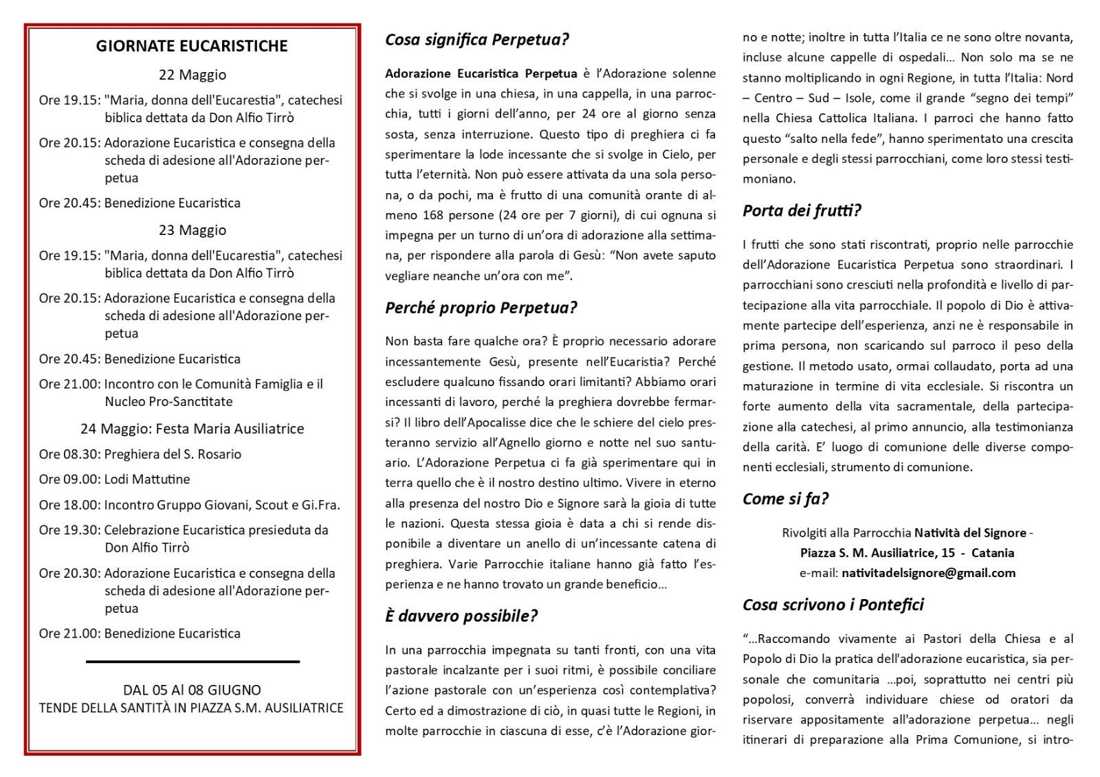 Adorazione Eucaristica Perpetua e Diurna in Sicilia